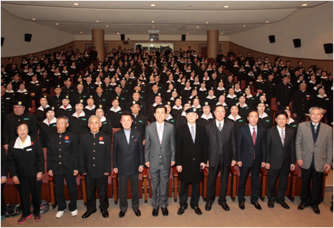 신중년사관학교 졸업생 단체사진